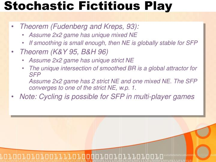Stochastic Fictitious Play
