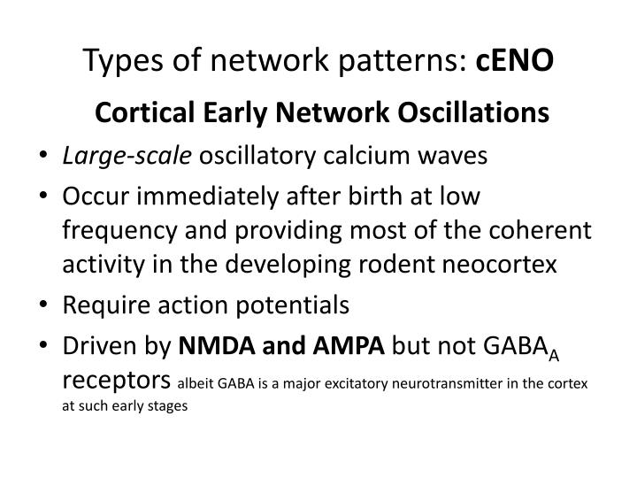 Types of network patterns ceno