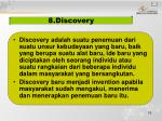 8 discovery