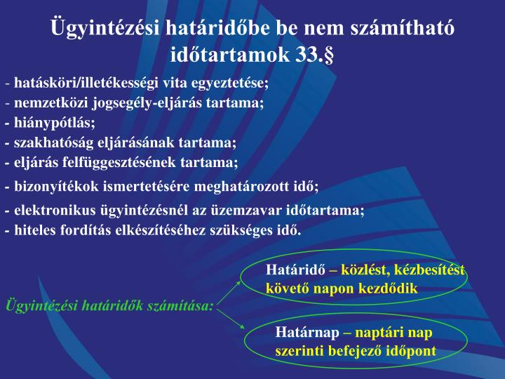 gyintzsi hatridbe be nem szmthat idtartamok 33.