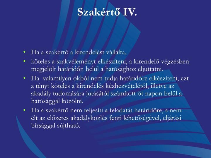 Szakértő IV.