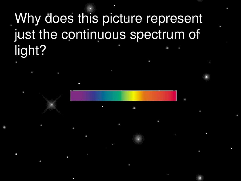 Why does this picture represent just the continuous spectrum of light?