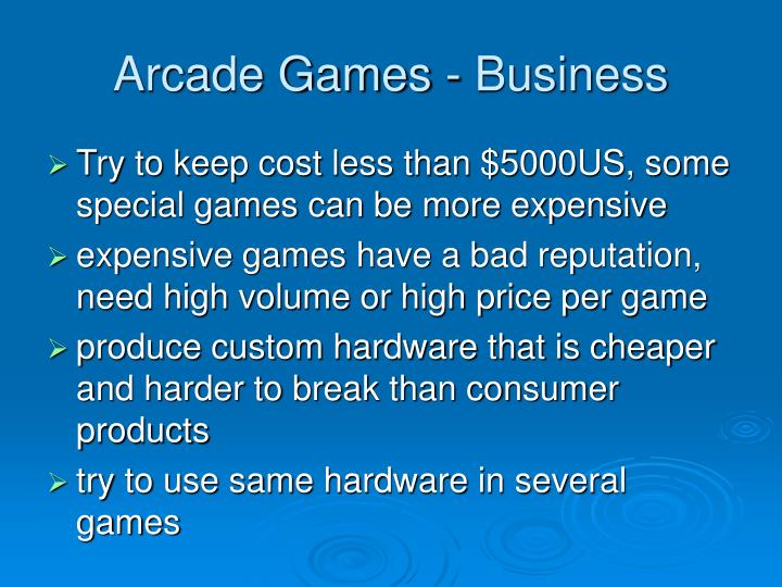 Arcade Games - Business