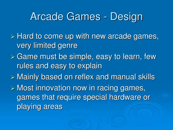 Arcade Games - Design