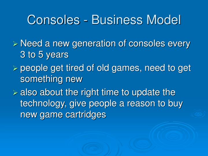 Consoles - Business Model