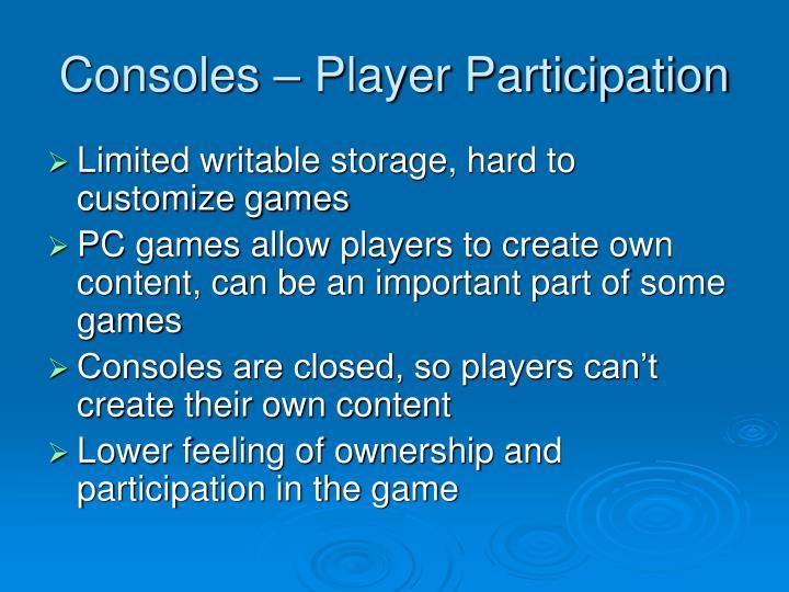 Consoles – Player Participation