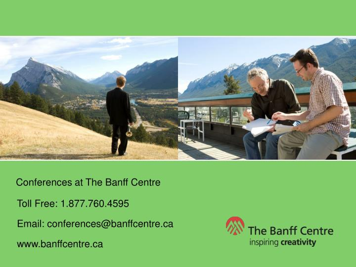Conferences at The Banff Centre