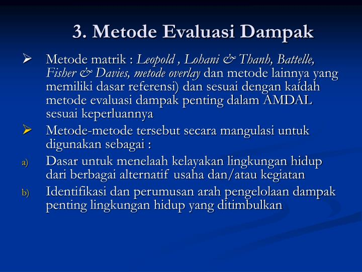 3. Metode Evaluasi Dampak