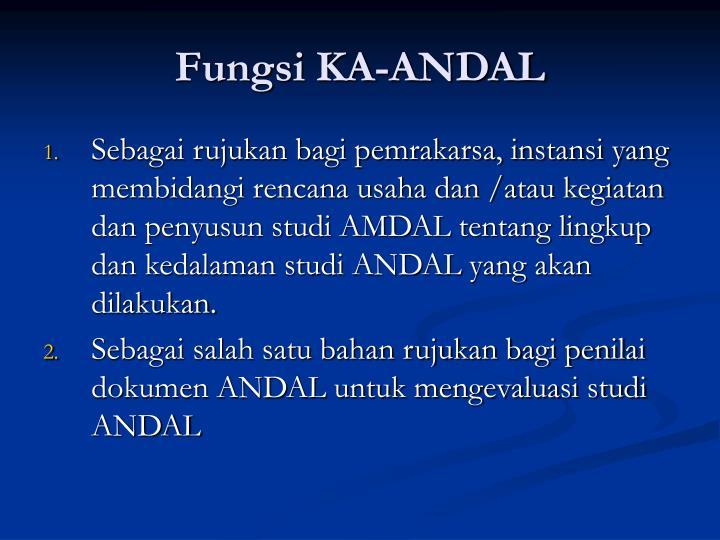 Fungsi KA-ANDAL