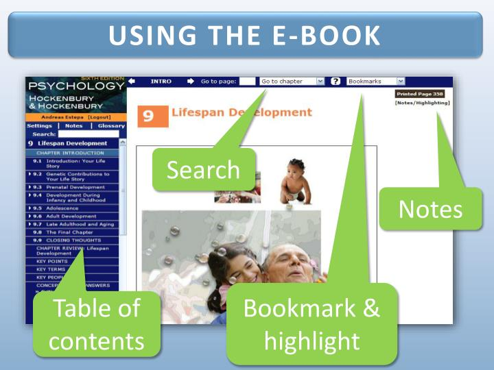 USING THE E-BOOK