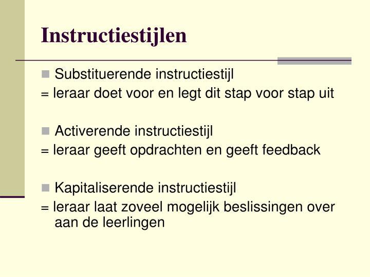Instructiestijlen
