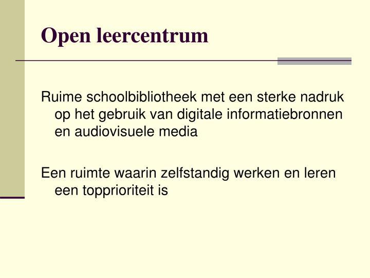Open leercentrum