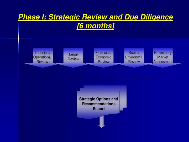 Phase I: Strategic Review and Due Diligence