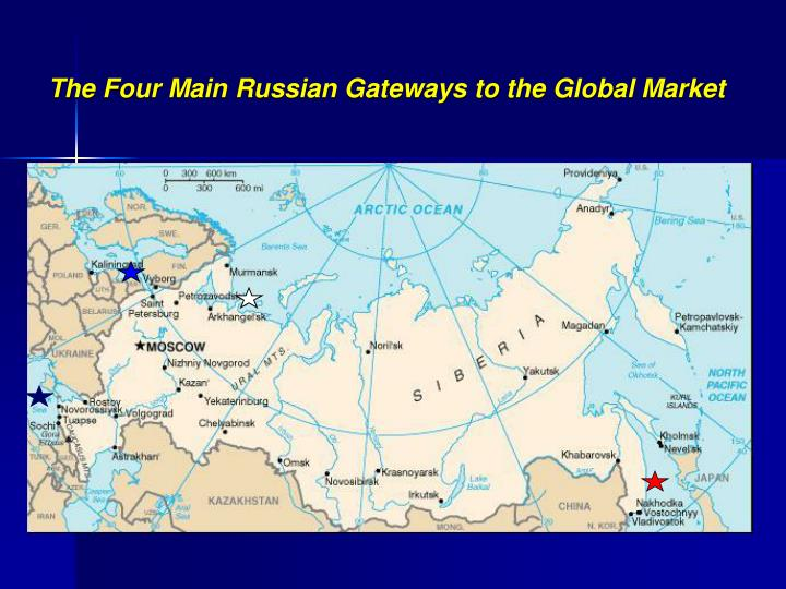 The Four Main Russian Gateways to the Global Market