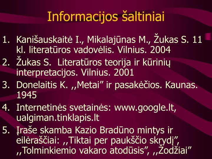 Informacijos šaltiniai