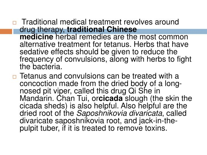 Traditional medical treatment revolves around drug therapy,