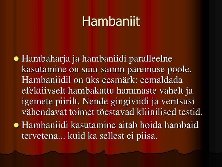 Hambaniit