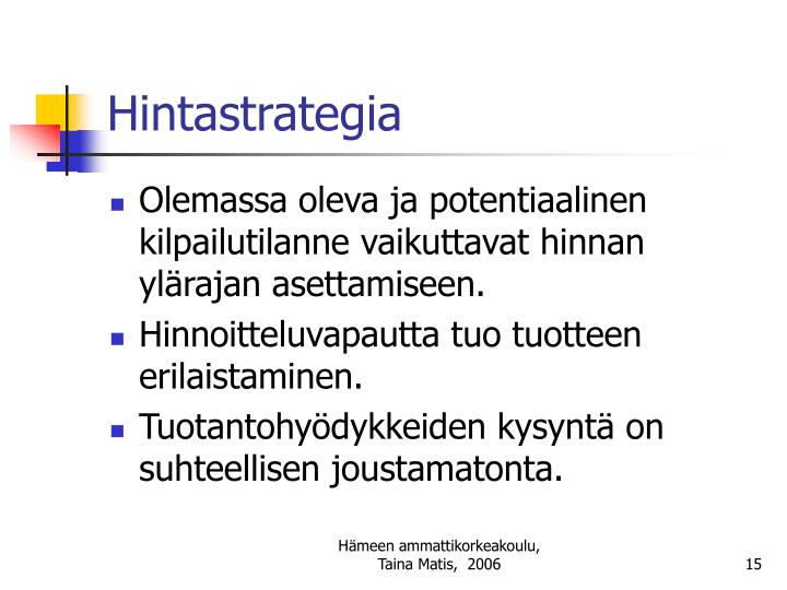 Hintastrategia