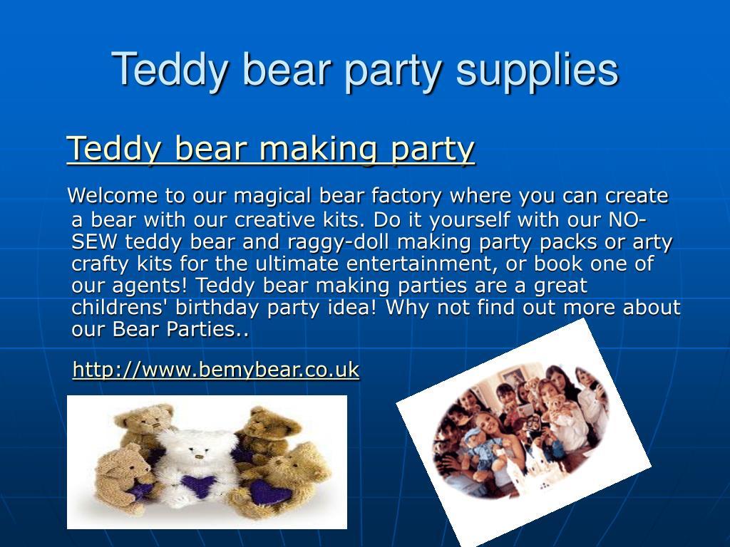 Teddy bear party supplies