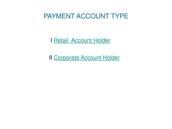 Payment account type