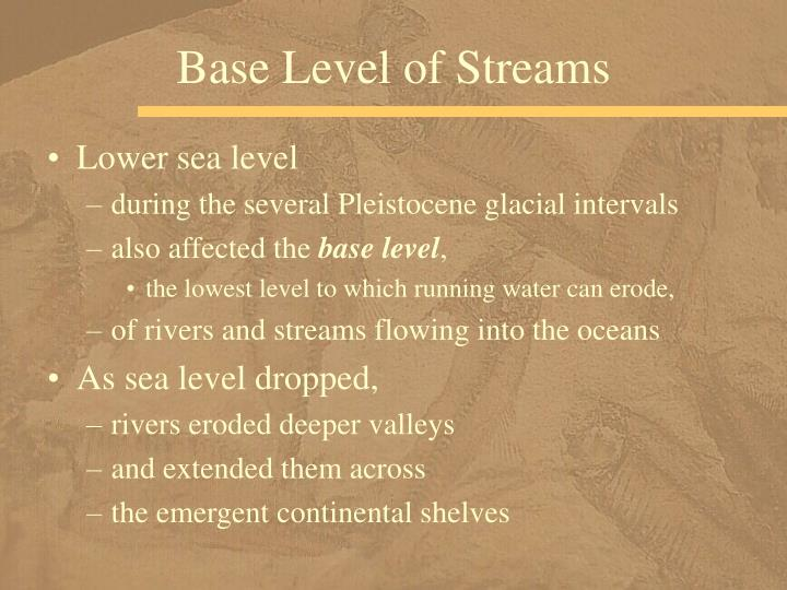 Base Level of Streams