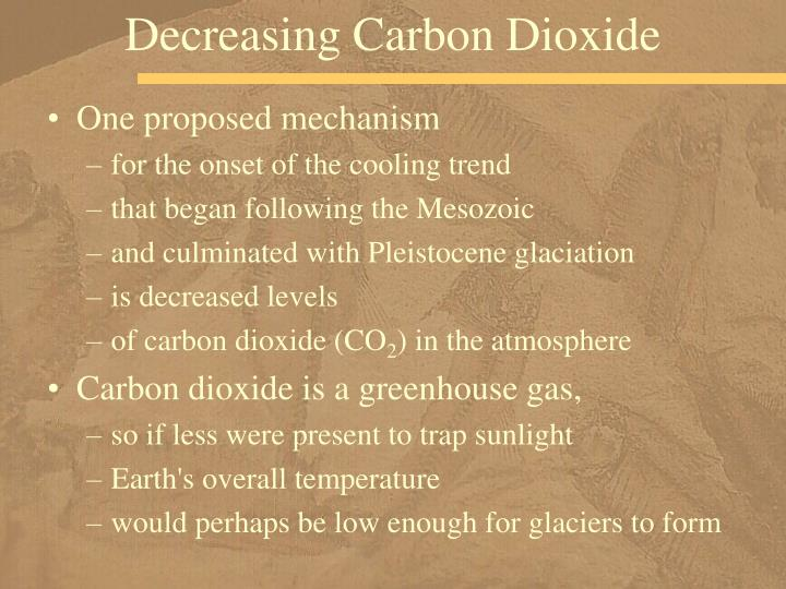 Decreasing Carbon Dioxide