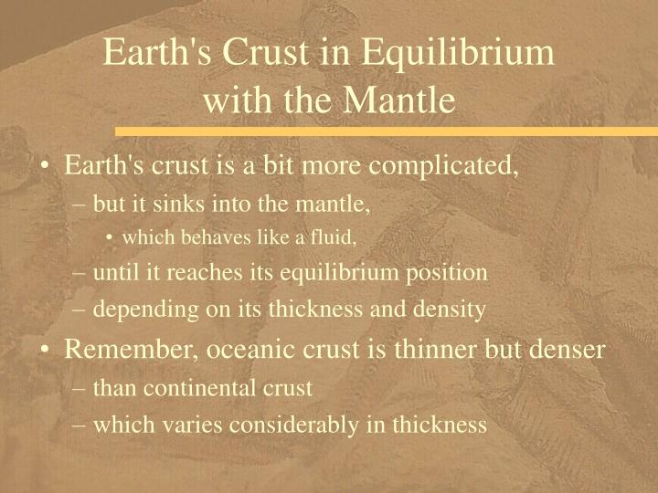 Earth's Crust in Equilibrium