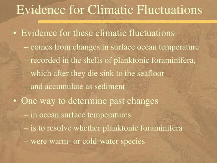 Evidence for Climatic Fluctuations