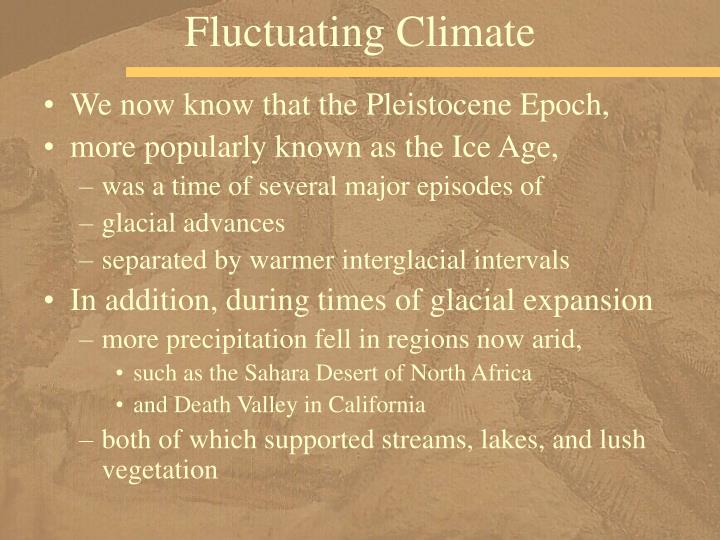 Fluctuating Climate