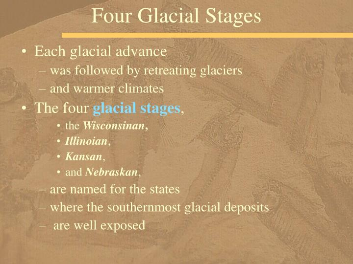 Four Glacial Stages