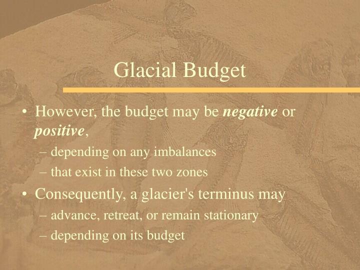 Glacial Budget