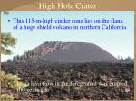 high hole crater