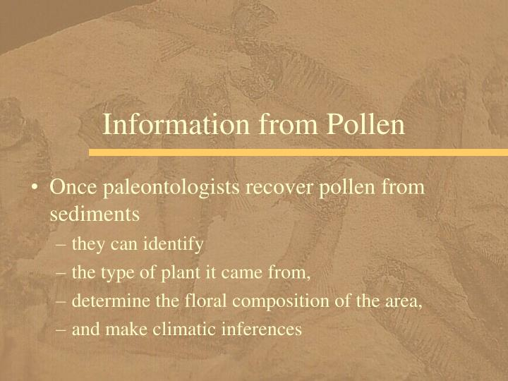 Information from Pollen