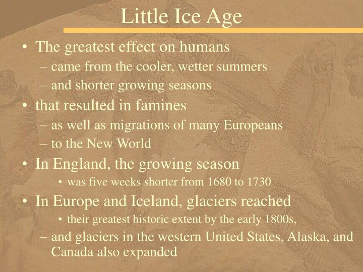 Little Ice Age