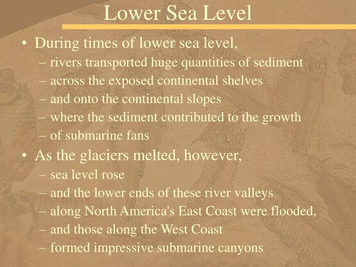 Lower Sea Level