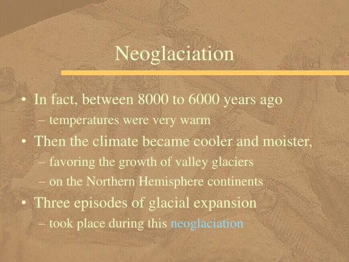 Neoglaciation