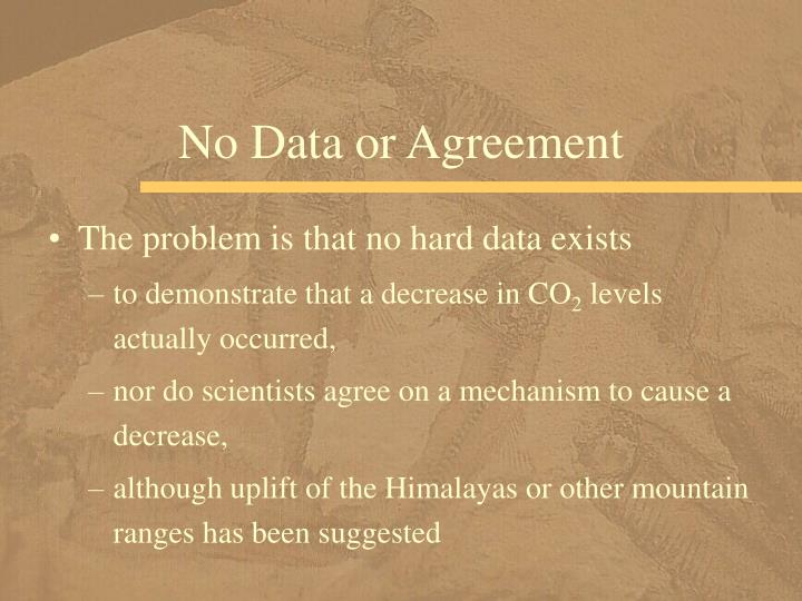 No Data or Agreement