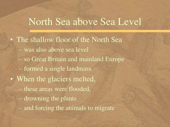 North Sea above Sea Level