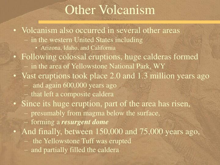 Other Volcanism