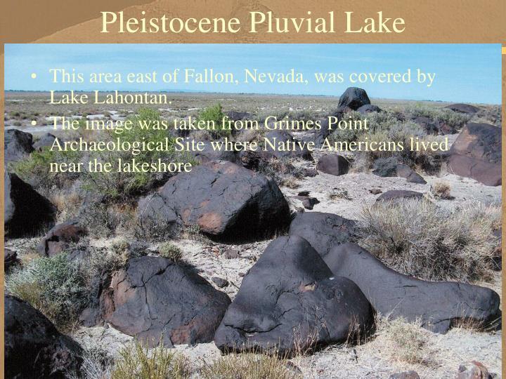 Pleistocene Pluvial Lake