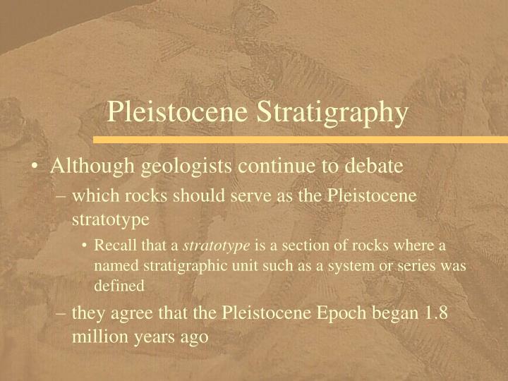 Pleistocene Stratigraphy