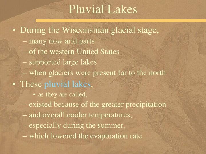 Pluvial Lakes