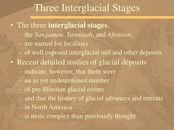 Three Interglacial Stages