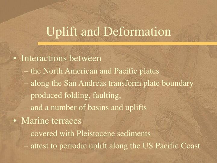 Uplift and Deformation