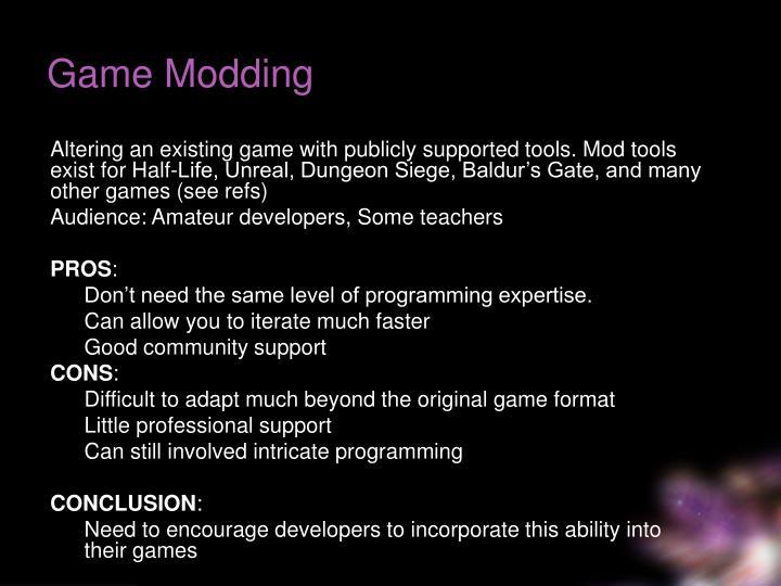 Game Modding