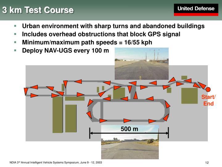 3 km Test Course