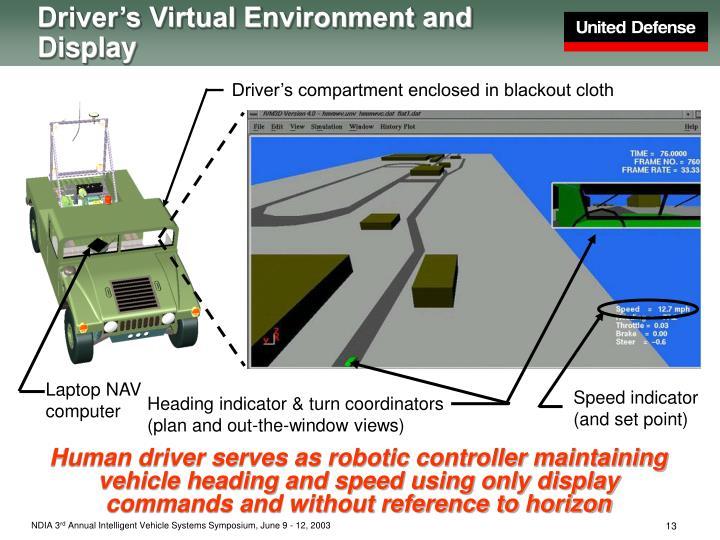 Driver's Virtual Environment and Display