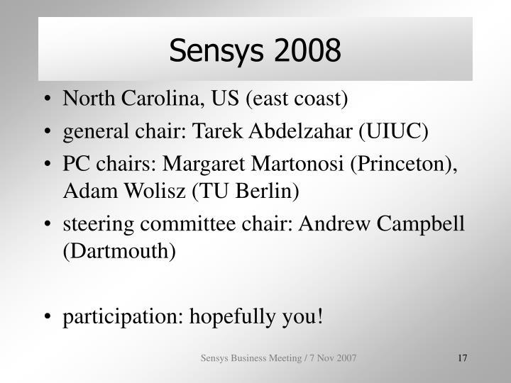 Sensys 2008