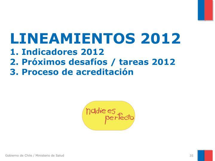 LINEAMIENTOS 2012