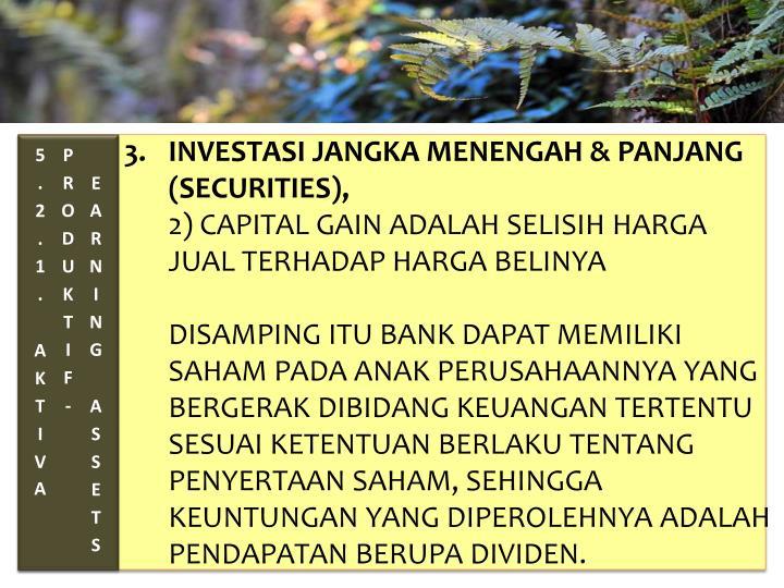 3. INVESTASI JANGKA MENENGAH & PANJANG (SECURITIES),